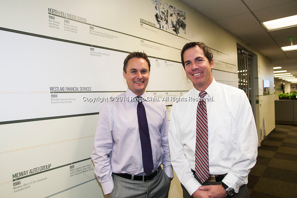 Ian Anderson, right, and Paul Kerwin of Westlake Financial.<br /> (Photo by Ringo Chiu/PHOTOFORMULA.com)