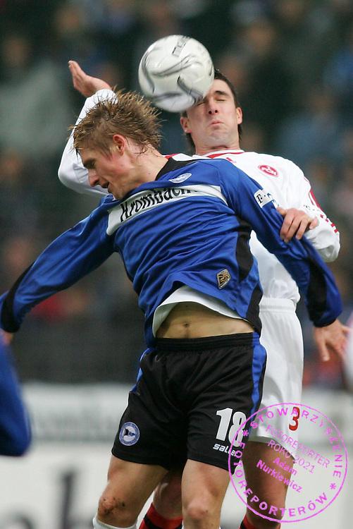 v.l. Artur Wichniarek, Michael Beauchamp Nuernberg.Bundesliga DSC Arminia Bielefeld - 1.FC Nuernberg 3:2.FOT. WITTERS / WROFOTO.*** POLAND ONLY !!! ***.*** NO INTERNET/ MOBILE USAGE !!! ***