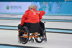 Gregor Ewan, Angie Malone, Wheelchair Curling Finals at the 2014 Sochi Winter Paralympic Games, Russia
