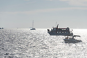 Whale watching from Mirissa harbour, Sri Lanka.<br /> On an outing with Mirissa Water Sports who manage three boats for excursions.