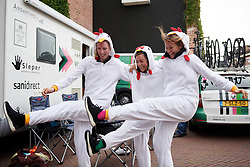 Parkhotel Valkenburg do the chicken dance at Boels Ladies Tour 2019 - Stage 3, a 156.8 km road race starting and finishing in Nijverdal, Netherlands on September 6, 2019. Photo by Sean Robinson/velofocus.com