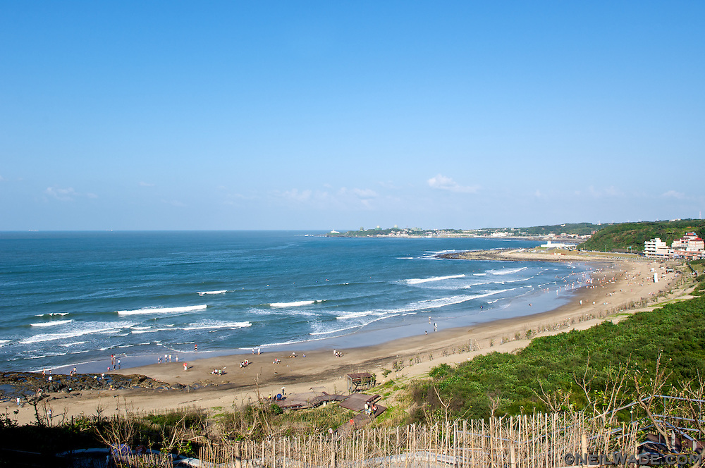 Baishawan beach, just north of Taipei, Taiwan.