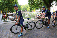 QUINTANA Nairo (COL), ANACONA GOMEZ Winner (COL)  Team Movistar, during the 102nd Tour de France, Team Presentation, in Utrecht, Netherlands, on July 2, 2015 - Photo Tim de Waele / DPPI
