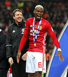 Paul Pogba of Manchester United celebrates at full time - Mandatory by-line: Matt McNulty/JMP - 26/02/2017 - FOOTBALL - Wembley Stadium - London, England - Manchester United v Southampton - EFL Cup Final