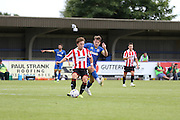 Jake Reeevs in action during the Pre-Season Friendly match between AFC Wimbledon and Cheltenham Town at the Cherry Red Records Stadium, Kingston, England on 1 August 2015. Photo by Stuart Butcher.