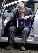 © Licensed to London News Pictures. 01/05/2012. London, UK . Justice Secretary Ken Clarke. Cabinet ministers in Downing Street for the Cabinet Meeting on 1st May 2012. Photo credit : Stephen Simpson/LNP