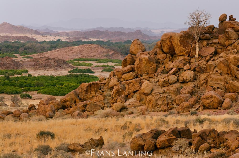 Landscape at Brandberg, Tsiseb Conservancy, Damaraland, Namibia