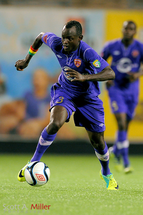 Orlando City Lions midfielder Adama Mbengue (3) during the Lions game against the Wilmington Hammerheads at the Florida Citrus Bowl on July 25, 2012 in Orlando, Florida. ..©2012 Scott A. Miller