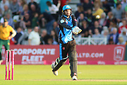 Ed Barnard of Worcestershire Rapids hitting out during the Vitality T20 Blast North Group match between Nottinghamshire County Cricket Club and Worcestershire County Cricket Club at Trent Bridge, West Bridgford, United Kingdon on 18 July 2019.