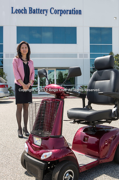 Heidi Peng, president and director at Leoch Battery Corporation in Foothill Ranch, California. (Photo by Ringo Chiu/PHOTOFORMULA.com)
