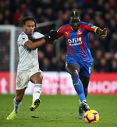 Crystal Palace's Mamadou Sakho (right) and Cardiff City's Bobby Reid battle for the ball, during the Premier League match at Selhurst Park, south east London.