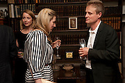 MRS. ALAIN DE BOTTON; SUSIE BOYT; TOM ASTOR, Freud Museum dinner, Maresfield Gardens. 16 June 2011. <br /> <br />  , -DO NOT ARCHIVE-© Copyright Photograph by Dafydd Jones. 248 Clapham Rd. London SW9 0PZ. Tel 0207 820 0771. www.dafjones.com.