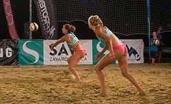 Kotnik Tjasa and Potokar Monika vs. Spoljaric Zala and Zuzek Lana during the final match of Beach volley National Championship of Slovenia , on July 25. 2020 in Kranj, Slovenia. Photo by Urban Meglič / Sportida