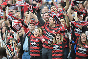 21.04.2013 Sydney, Australia. Wanderers fans in action during the Hyundai A League grand final game between Western Sydney Wanderers FC and Central Coast Mariners FC from the Allianz Stadium.Central Coast Mariners won 2-0.
