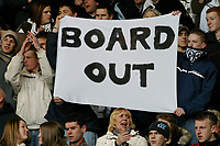 Photo: Dave Linney.<br />Derby County v Burnley. Coca Cola Championship. 11/03/2006.Derby fans protest before the game