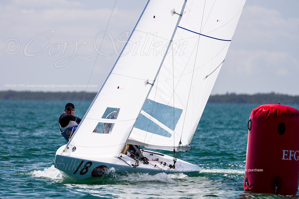 8418 Star Class sailing in Bacardi Miami Sailing Week, day one.