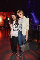 "Bella Freud and Lily Cole at ""Hoping For Palestine"" Benefit Concert For Palestinian Refugee Children held at The Roundhouse, Chalk Farm Road, England. 04 June 2018. <br /> Photo by Dominic O'Neill/SilverHub 0203 174 1069/ 07711972644 - Editors@silverhubmedia.com"