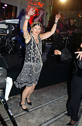 LADY CONRAN dancing at Andy & Patti Wong's Chinese New Year party to celebrate the year of the Rooster held at the Great Eastern Hotel, Liverpool Street, London on 29th January 2005.  Guests were invited to dress in 1920's Shanghai fashion.<br />