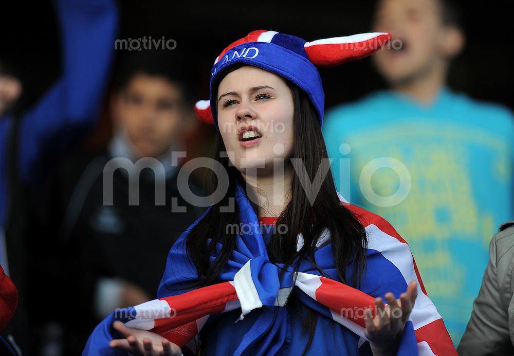 FUSSBALL   UEFA U21-EUROPAMEISTERSCHAFT 2011   GRUPPE A  14.06.2011 Schweiz - Island        Island Fan
