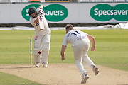 Paul Horton drives for 4 during the Specsavers County Champ Div 2 match between Durham County Cricket Club and Leicestershire County Cricket Club at the Emirates Durham ICG Ground, Chester-le-Street, United Kingdom on 19 August 2019.