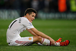 Ander Herrera of Manchester United looks dejected at the final whistle  - Mandatory byline: Jack Phillips/JMP - 07966386802 - 31/10/2015 - SPORT - FOOTBALL - London - Selhurst Park Stadium - Crystal Palace v Manchester United - Barclays Premier League