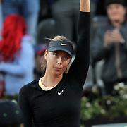 Roma 14/01/2018 Foro Italico<br /> Internazionali BNL d'Italia<br /> Maria SHARAPOVA (RUS) saluta il pubblico dopo la vittoria