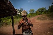 Xerente tribesmen  in the village of Tocantinia, Brazil, Friday, 01, 2015. (Hilaea Media/ Dado Galdieri)