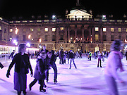 Launch of the Somerset House Christmas Ice Rink. Hosted by Sir Timothy Sainsbury and H.E. Bruno Spinner Amabassador of Switzerland. © Copyright Photograph by Dafydd Jones 66 Stockwell Park Rd. London SW9 0DA Tel 020 7733 0108 www.dafjones.com