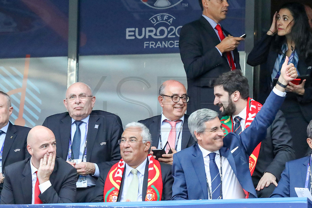 António Costa, portuguese prime-minister, and other ministers at the Euro Cup final in Saint Denis, in Paris