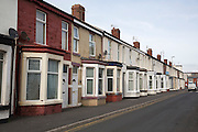 A row of terraced houses in Bloomfield ward, Blackpool, Lancashire, England, United Kingdom. Bloomfield ward is the poorest council ward in Blackpool and one of the poorest in England. (photo by Andrew Aitchison / In pictures via Getty Images)