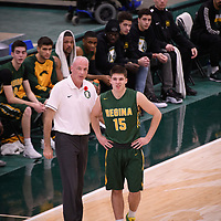 Head Coach Steve Burrows (5th Season) of the Regina Cougars during the Men's Basketball home game on November 11 at Centre for Kinesiology, Health and Sport. Credit: Arthur Ward/Arthur Images