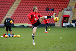 Luke Freeman of Bristol City in action during the warm up - Photo mandatory by-line: Rogan Thomson/JMP - 07966 386802 - 20/12/2014 - SPORT - FOOTBALL - Crewe, England - Alexandra Stadium - Crewe Alexandra v Bristol City - Sky Bet League 1.