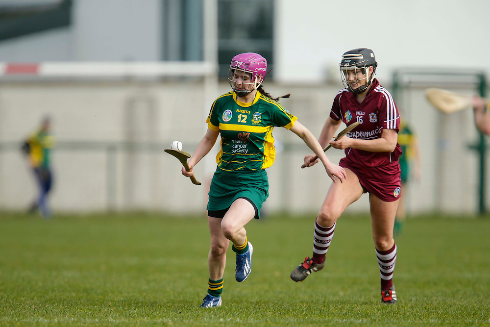 National Camogie League Division 2 at Trim, 20th March 2016<br /> Meath vs Galway<br /> Katie Hackett (Meath) & Moira Connaughton (Galway)<br /> Photo: David Mullen /www.cyberimages.net / 2016
