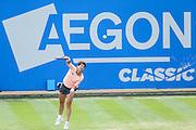 Carla Suarez Navarro in semi final action during the Aegon Classic at Edgbaston Priory Club, Birmingham, United Kingdom on 18 June 2016. Photo by Shane Healey.