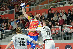 CANELLAS Joan of Spain during handball match between National teams of Spain and Czech Republic on Day 2 in Preliminary Round of Men's EHF EURO 2018, on Januar 13, 2018 in Skolsko Sportska Dvorana, Varazdin, Croatia. Photo by Mario Horvat / Sportida