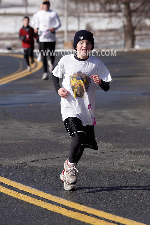 Middletown, NY - Runners compete in the Orange Runners Club Winter Series race No. 3 on Feb. 10, 2008.
