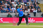 Wicket - Luke Wright of Sussexhit out and is caught by Max Waller of Somerset off the bowling of Corey Anderson of Somerset during the Vitality T20 Finals Day semi final 2018 match between Sussex Sharks and Somerset County Cricket Club at Edgbaston, Birmingham, United Kingdom on 15 September 2018.