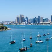 San Diego skyline from Coronado bridge.