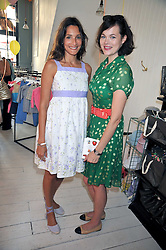 Left to right, ASTRID MUNOZ and JASMINE GUINNESS at the 10th anniversary party of the store Caramel, Ledbury Road, London W11.  The party was held in association with the Naked Heart Foundation - a charity set up by model Natalia Vodianova.
