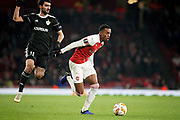 Arsenal's Joe Willock (59) charging forward during the Europa League group stage match between Arsenal and FK QARABAG at the Emirates Stadium, London, England on 13 December 2018.