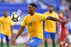 July 7, 2017 - Harrison, New Jersey, U.S - French Guiana midfielder GREGORY LESCOT (14) in CONCACAF Gold Cup 2017 at Red Bull Arena in Harrison New Jersey Canada defeats French Guiana 4 to 2. (Credit Image: © Brooks Von Arx via ZUMA Wire)