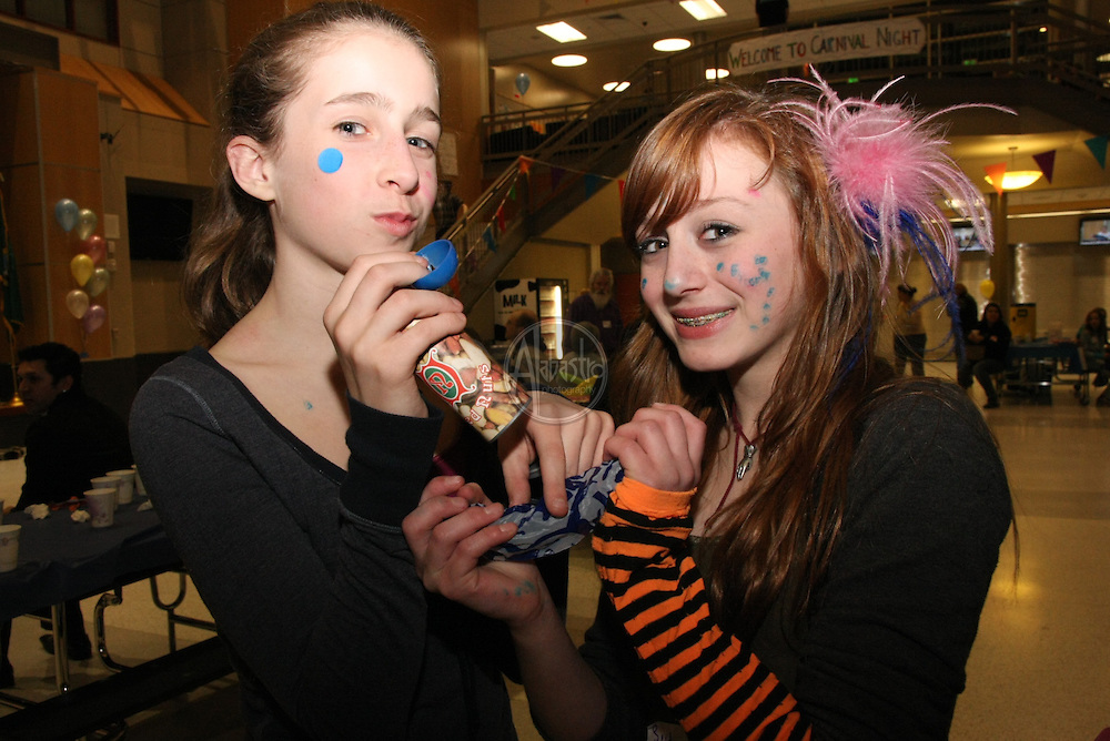 Hamilton International Middle School Spring Carnival. Camile and Sidney.