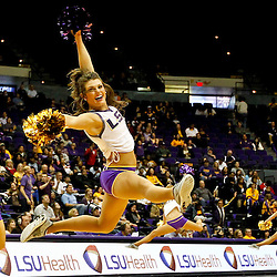 November 24, 2012; Baton Rouge, LA; LSU Tigers Tiger Girls dancers perform during the second half of a game against the Mississippi Valley State Delta Devils at the Pete Maravich Assembly Center.  LSU defeated Mississippi Valley State 75-50. Mandatory Credit: Derick E. Hingle-US PRESSWIRE