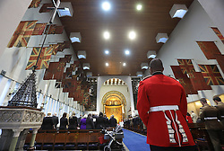 The Guards' Chapel in Wellington Barracks, London where a service was held for the Welsh Guards' Regimental Remembrance Sunday.