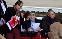 Eddy Merckx in the stands during the AS Monaco v Club Brugge match at Stade Louis II