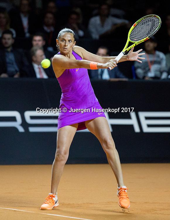 ROBERTA VINCI (ITA)<br /> <br /> Tennis - Porsche  Tennis Grand Prix 2017 -  WTA -  Porsche-Arena - Stuttgart -  - Germany  - 26 April 2017.