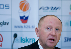 Dusan Sesok at press conference when announced that Zdovc is a new Slovenian Head coach of Basketball National team, on November 25, 2008 in City Hotel, Ljubljana, Slovenia.  (Photo by Vid Ponikvar / Sportida)