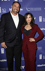 September 19, 2016 - New York, New York, United States - Rehab specialist Mike Bayer and singer Demi Lovato attending the 2016 Social Good Summit at 92Y on September 19, 2016 in New York City  (Credit Image: © Nancy Rivera/Ace Pictures via ZUMA Press)
