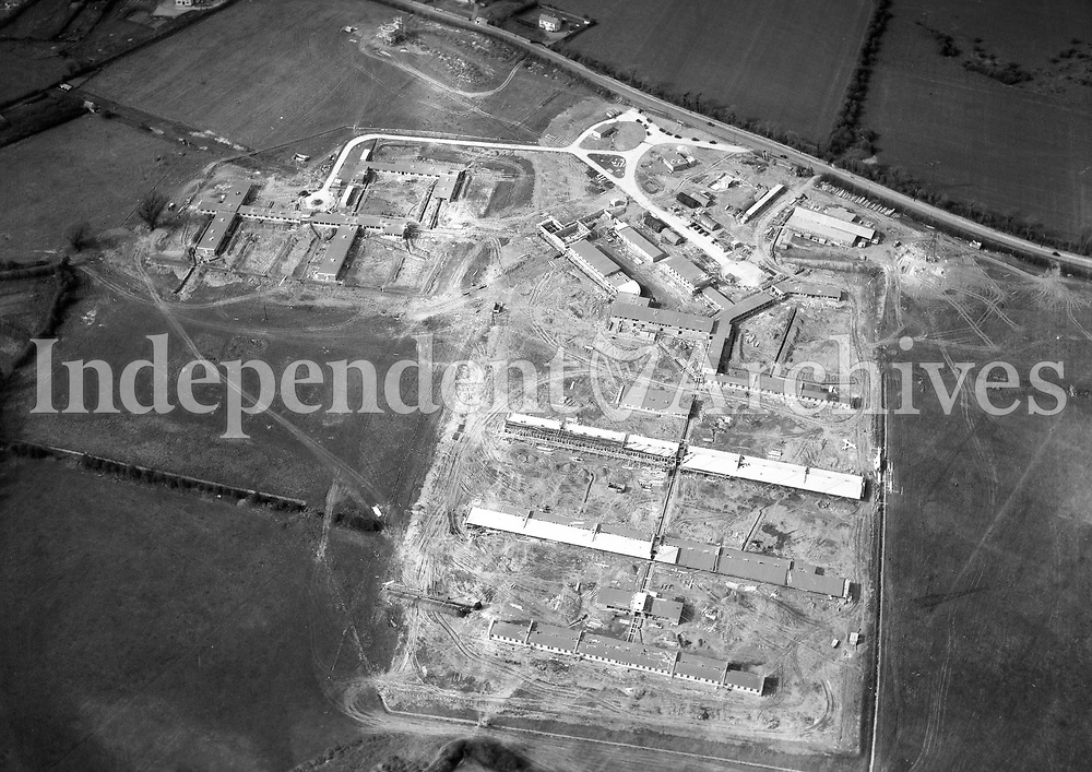 A395 Sanatorium Opposite Hermitage Golf Club.    (Part of the Independent Newspapers Ireland/NLI collection.)<br /> <br /> These aerial views of Ireland from the Morgan Collection were taken during the mid-1950's, comprising medium and low altitude black-and-white birds-eye views of places and events, many of which were commissioned by clients. From 1951 to 1958 a different aerial picture was published each Friday in the Irish Independent in a series called, 'Views from the Air'.The photographer was Alexander 'Monkey' Campbell Morgan (1919-1958). Born in London and part of the Royal Artillery Air Corps, on leaving the army he started Aerophotos in Ireland. He was killed when, on business, his plane crashed flying from Shannon.