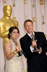 Winners of Best Documentary Short Award for 'Saving Face', Sharmeen Obaid-Chinoy, Daniel Junge the press room at the 84th Annual Academy Awards (Oscars) held at  the Kodak Theater in Hollywood, California on Sunday February 26th, 2012.Photo by Jennifer Graylock/ i-Images